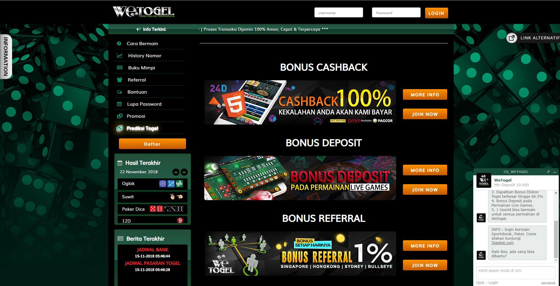 Promo Togel Online Terbesar